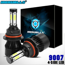 4-Side 9007 1700W LED Headlight Bulbs Hi/Lo Beam HID Conversion Kit 6000K Power