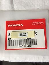 Genuine Honda Z50J Speed Warning Decal Z50 ST70 Monkey Bike Dax Z50m