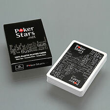 Sealed Deck of Poker Stars Standard Tamanho Poker Playing Cards Black