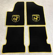Autoteppich Fußmatten für Fiat Seicento u. Abarth 1998-2010 schwarz gelb Velours