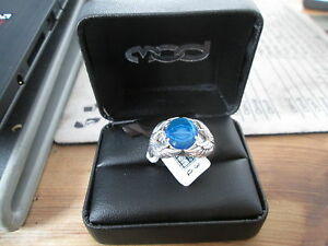 Harley Davidson Mod Blue Wing Collection .925 Silver Blue Eagle Ring HDR0305