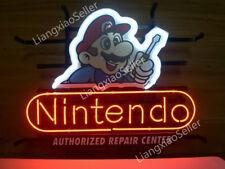 New Nintendo Super Mario Repair Center Beer Bar NEON LIGHT SIGN Free Shipping