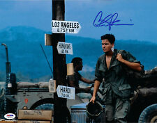 Charlie Sheen Autographed 11x14 Platoon Signed Photo - PSA/DNA