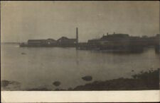 Fishing Docks & Bldgs - Birch Harbor ME Cancel 1908 Real Photo Postcard