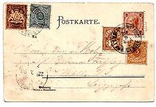 1898, colorierte Postkarte Diebesturm mit Peterskirche Lindau Fünf-Länder-Frank.