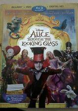 Disney Alice Through the Looking Glass (Blu-ray/DVD,  Digital copy, free ship