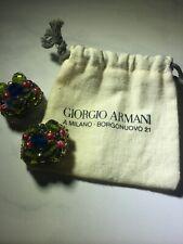 Giorgio Armani Costume Earrings Clip On 3942 SC P24