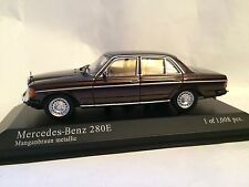 MERCEDES Bent 280e (w123) 1976 Marrone 1:43 Minichamps Nuovo & Ovp 430032209