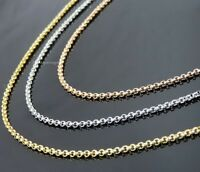 Edelstahl Erbskette 2-3 mm breit 10 -120 cm Halskette Anhänger Rolo-Kette Unisex