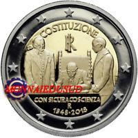 2 Euro Commémorative Italie 2018 - Constitution italienne