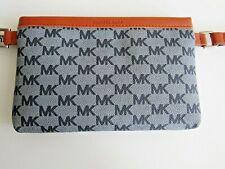 Michael Kors Blue Signature Travel Hip Bag Sport Fanny Pack Waist Bag Leather