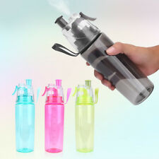 Durable Portable Spray Water Bottle With Straw Plastic Cup For Cycling Hike DY