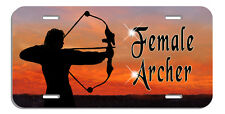 Archery Bow Arrow Hunter License Plate Personalize Name Text Gifts Female Archer