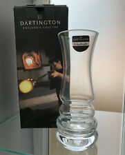 More details for dartington crystal clear glass small 17cm ~ wibble vase ~ brand new box