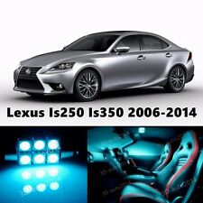 16pcs LED ICE Blue Light Interior Package Kit for Lexus Is250 Is350 2006-2015