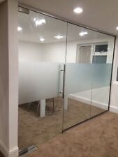 10mm USED GLASS PARTITION -2218mmx3455mm 4 Panels & 1 Door-Nationwide delivery