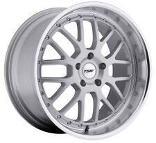 20x8.5 TSW Valencia 5x120 Rims +35 Silver Rims Fits e46 e90 e92 e60 Awd only