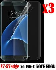 3x FULL Coverage Curved Screen Protector For Samsung Galaxy S7 S6 Edge S8 S8+
