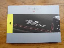 Ferrari 458 Speciale Owners Handbook/Manual