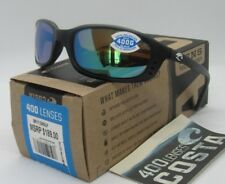 COSTA DEL MAR black/green mirror BRINE POLARIZED 400G sunglasses! NEW IN BOX!