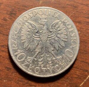 1933 Poland 10 Zlotych - silver coin - high grade
