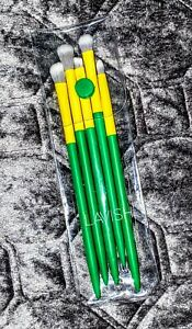 Lavish ~ 5-Piece Essential Eye Collection Brush Set ~ Green & Yellow ~ New!