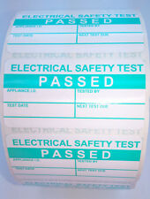 Roll 1000 PAT Test Labels 50 x 25mm Tough pp. Non-Rip Testing Sticker PASSED