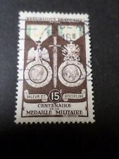 FRANCE 1952 timbre 927, MEDAILLE MILITAIRE, oblitéré, VF STAMP