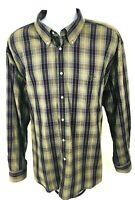 Barbour Mens Regular Fit Long Sleeve Button Down Green Plaid Casual Shirt Sz 5XL