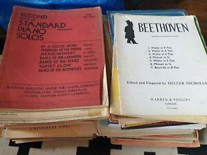 Huge Job Lot Of Piano Sheet Music Books Beethoven Bach 70s Mambo Jambo