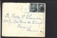 "GREENPORT, NEW YORK COVER,1890. #216. PAIR CORK CL.TRANSATLANTIC TO ""FRANCE""."