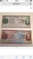 Lot de 2 Travellers Cheque 500 Francs et 100 Francs Thomas COOK années 80