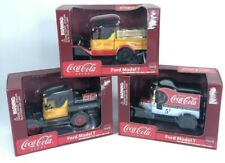 Lot of 3 Gearbox's Coca-Cola Ford Model T Die-Casts Coke Coin Banks New