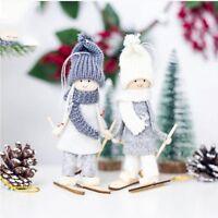 Toy Ski Girl  Home decor Hanging Christmas Ornament Xmas Tree Pendant Snowman