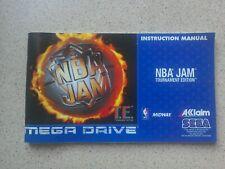 NBA Jam Tournament Edition Manual - Sega Mega Drive, NO GAME MANUAL ONLY
