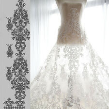 "59"" Floral Bridal Lace Fabric Off White Embroidery Wedding Lace Fabric 1 Meter"