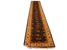 22 foot Black Long Hallway Runners 30 x 269 in Jaipur Genuine Handmade Runner