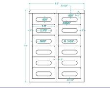 "Compulabel® Audio Cassette Label Inkjet/Laser 3.5""x1.6"" 311905"