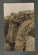 Mint RPPC Postcard Germany Army Wehrmacht Heavy Belt Fed Machine Gunner WW 1