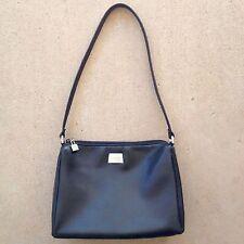 PERLINA Lambskin Leather Shoulder Purse/Handbag Single Strap Black 9 3/4 X 7 X 3