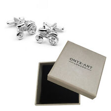 New Pair Of Silver Farmers Tractor Cufflinks & Gift Box by Onyx Art