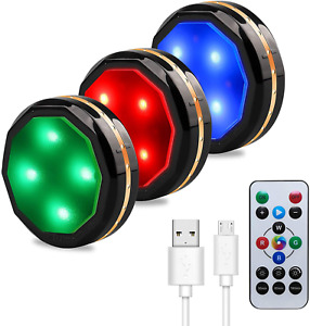 LED Under Cabinet Lighting Rechargeable Wireless Puck Lights Closet with Remote