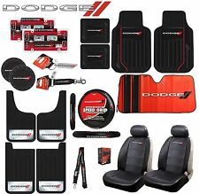 21 PC DODGE ELITE COMBO SEAT COVERS FLOOR MATS STEERING WHEEL COVER SUN SHADE +