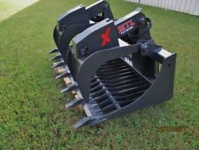 "MTL 72"" X series Rock Grapple Bucket w/teeth skid steer Bobcat -Ship $179"