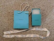 TIFFANY & CO Empty Authentic Blue Box, Gift Bag & White Ribbon