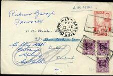 427008) Burma / Birma Luftpost 1949 nach Irland mit Aufdruckmarken u.a.