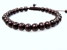 Beaded Rosewood Wrist Mala Bracelet Adjustable Healing Meditation Yoga Buddhist