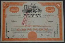 USA: Howard Johnson Company 100 shares