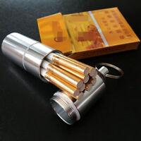 Metal Cigarette Case Mini Box Moisture-proof with Keychain Practical Portable HS