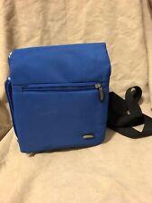 Travelon Crossbody Bag Ergonomic Royal Blue Multi-Pocket Organizer Expandable